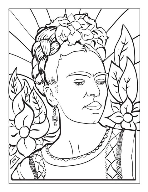 coloring pages for art class 15 best frida khalo art project for kids images on