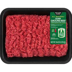 lean ground beef 93 lean 2 25 lbs meat seafood