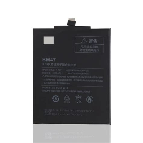 Xiaomi Battery Bm47 Redmi 3 Original Diskon 1116 original backup for xiaomi redmi 3 bm47 4000mah battery smart mobile phone tracking number