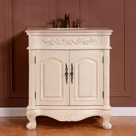 marble top bar cabinet 32 quot single sink cabinet cream marfil marble top