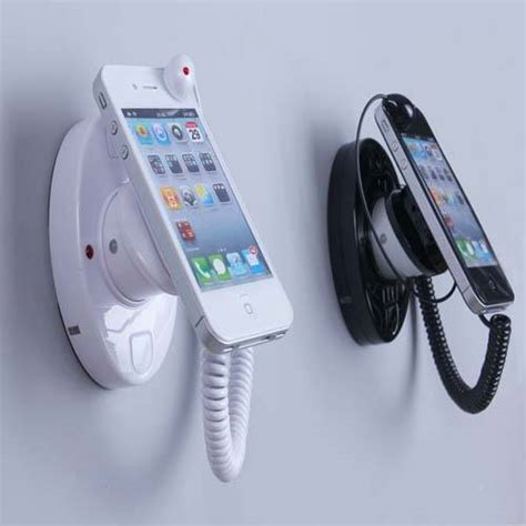 wall mounted cell phone holder sell security anti theft mobile cell phone display stand
