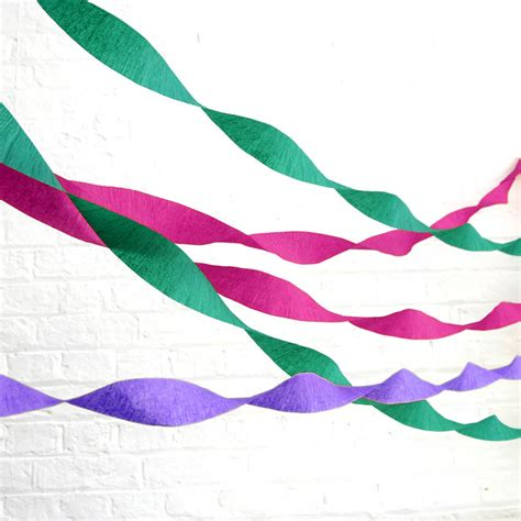 How To Make Streamers With Crepe Paper - crepe paper streamer by blossom notonthehighstreet