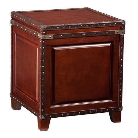 Trunk Side Table Ambrose Trunk Contemporary End Table Collectic Home