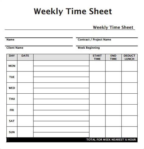 free timesheet template weekly employee timesheet template work