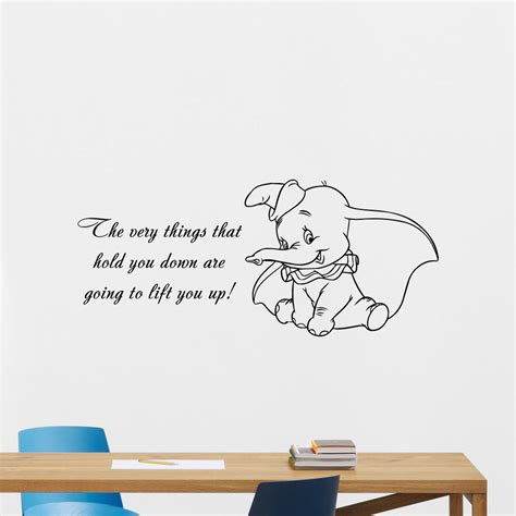 kinderzimmer bild dumbo dumbo quotes wall decal disney elephant vinyl sticker