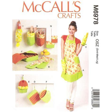 patron tablier de cuisine patron tablier accessoires cuisine mccall s m6978