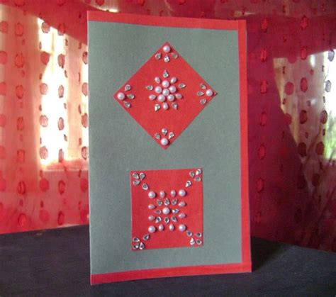Handmade Diwali Cards - handmade diwali card made from paper