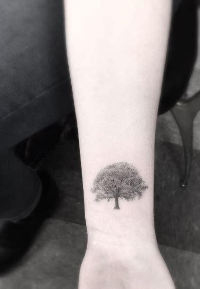 small oak tree tattoo 40 beautiful tiny wrist tattoos for tattooblend