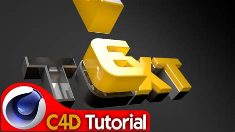 tutorial lego cinema 4d spinning text assembly intro tutorial cinema 4d youtube