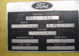Ford Number Ford Tractor Identification Numbers