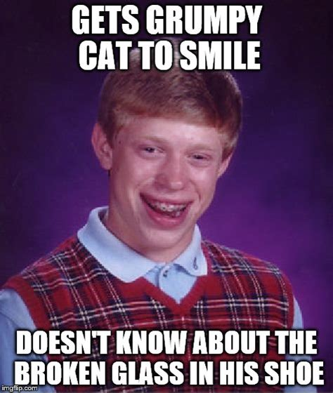 Broken Glasses Meme - bad luck brian meme imgflip