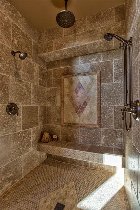 Amazing Tile Designs For Fireplaces #3: Mediterranean-bathroom.jpg