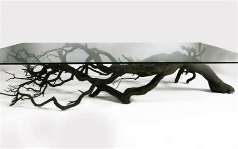 tree branch end table tree table exhibits the the mysterious and intriguing