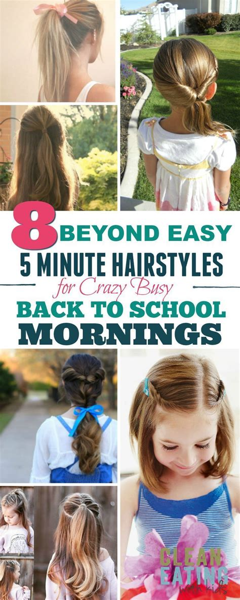 best 25 easy school hairstyles ideas on school hair easy hairstyles for school and