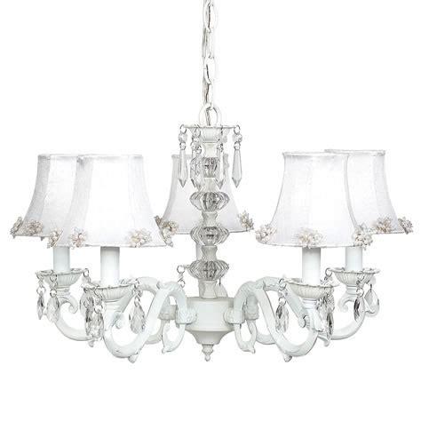 white chandelier white 5 arm glass turret chandelier optional white shades