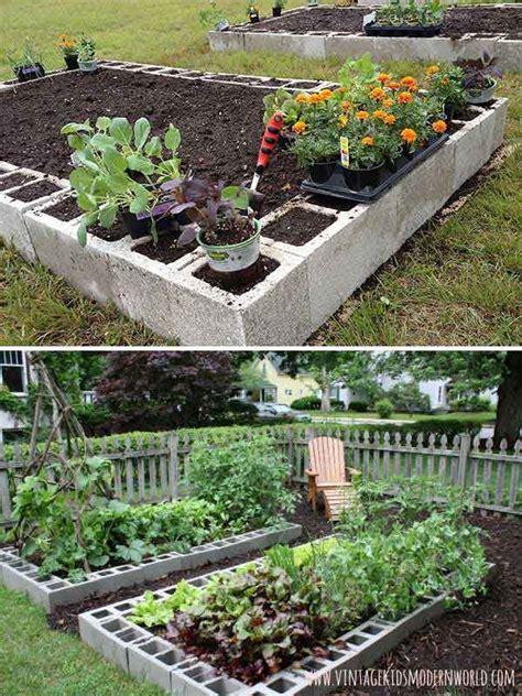 cheap vegetable garden ideas 25 best ideas about concrete blocks on cinder