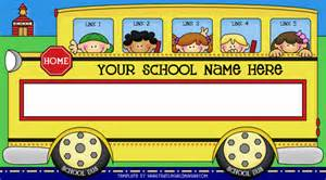 bus template from thistlegirl designs
