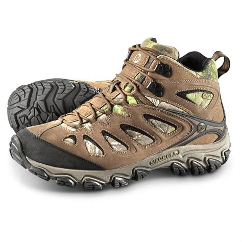 realtree camo shoes merrell s pulsate mid waterproof hiker boots realtree