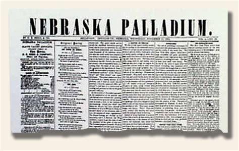 ne newspaper newspapers in nebraska history s newsstand