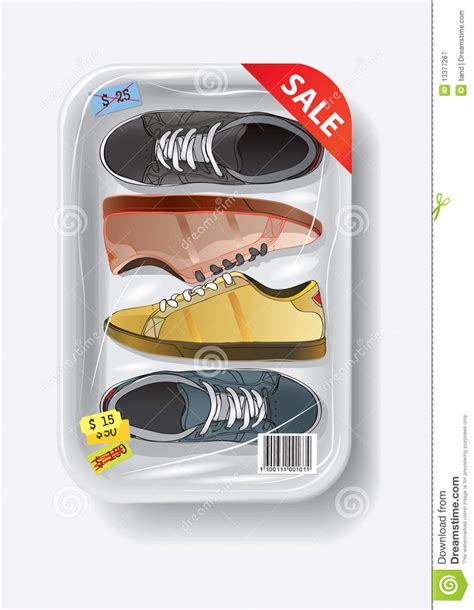 plastic containers for sneakers shoes in plastic container royalty free stock photography