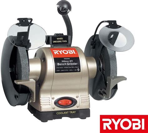 bench grinder wheel dresser grinders ryobi 375w 200mm bench grinder with light and
