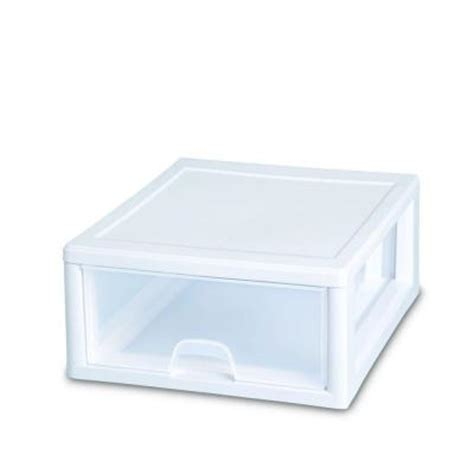 Plastic Stacking Drawers by Sterilite 16 Qt Stacking Drawer 23018006 The Home Depot