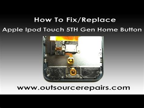 how to fix apple ipod touch 5th home button