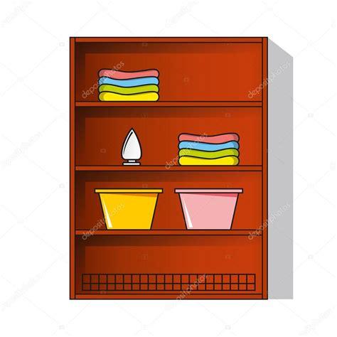 armadio vestiti armadio armadio con i vestiti vettoriali stock