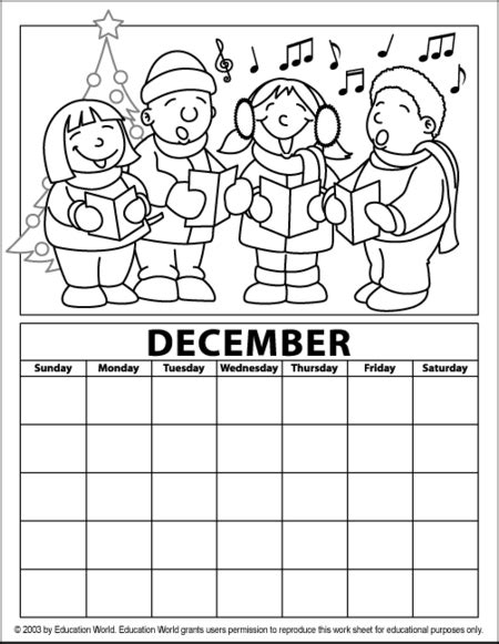 blank december children s calendar printable december calendar for kids new calendar