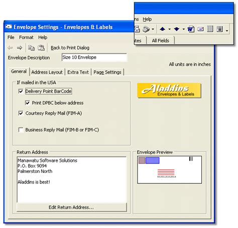 printing address labels outlook aladdins envelopes labels print envelopes and labels