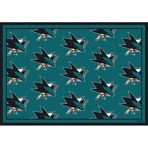 rug shark san jose sharks area rug nhl sharks area rugs