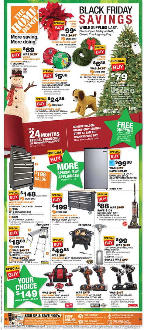 just posted home depot black friday 2015 ad tool pages