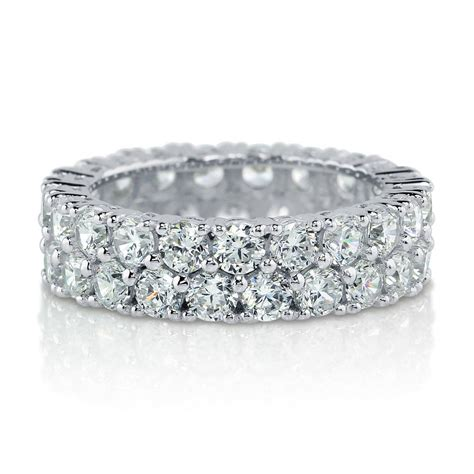 berricle sterling silver cz anniversary eternity band ring 4 4 carat ebay