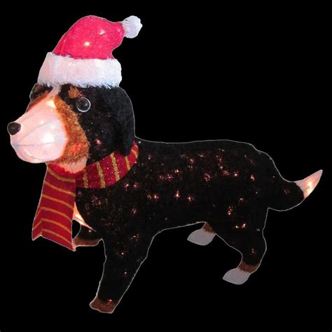 pre lit tinsel dog home accents 50 in pre lit tinsel bernese mountain ty538 1414 the home depot