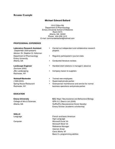 format of cv pdf exles of resumes qualifications resume general