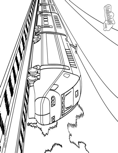 transportation train printable coloring sheet