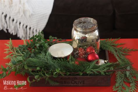 Christmas Coffee Table Centerpiece - holiday home tour making home base