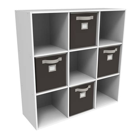 closetmaid white laminate storage cubes closet cube shop closetmaid 6 compartment white laminate