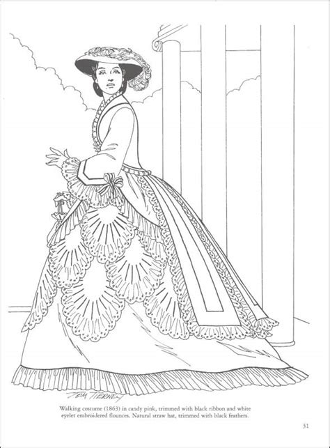 coloring pages for adults victorian victorian fashions coloring book 013090 details