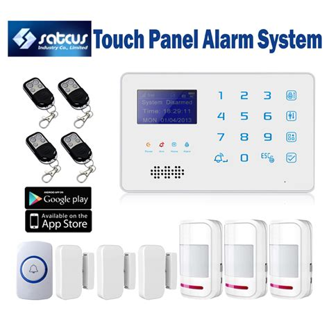 band touch keyboard wireless gsm sms alarm system for