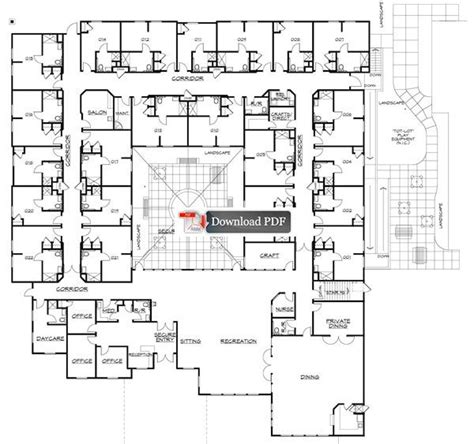 assisted living floor plan assisted living facilities floor plans carrington court