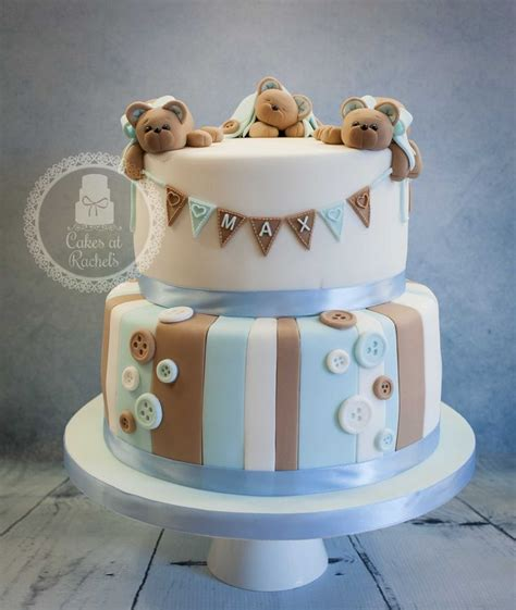 Teddy Baby Shower Cake Ideas by 10 Cakes Baby Boy Photo Teddy Baby Shower Cake