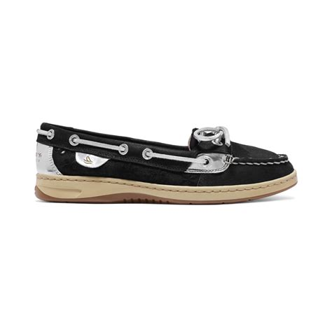 black sperry boat shoes sperry top sider women s angelfish boat shoes in black