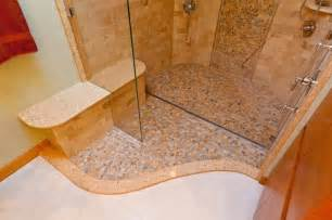 River Rock Bathroom Ideas by River Rock Shower With Quick Drain Modern Bathroom