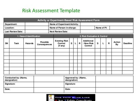 hazard risk register template hazard risk register template new event risk management