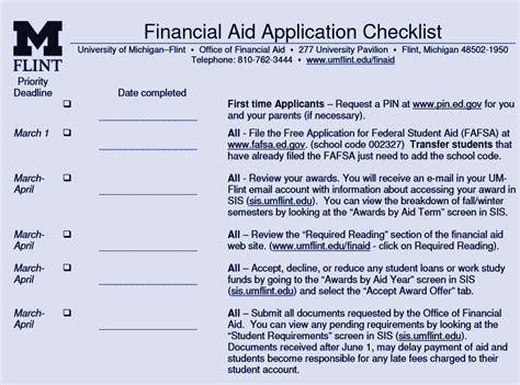 applying for aid university of michigan flint