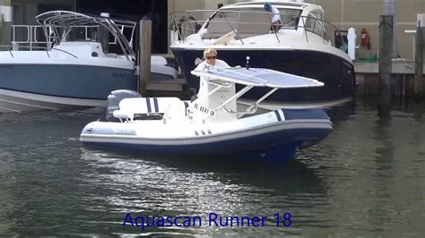 t top on rib boat runner 18 foldable t top youtube