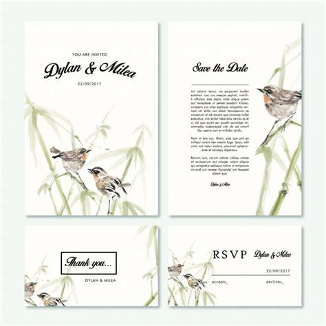 Wedding Card Vector Ai by Wedding Cards Collection Vector Free