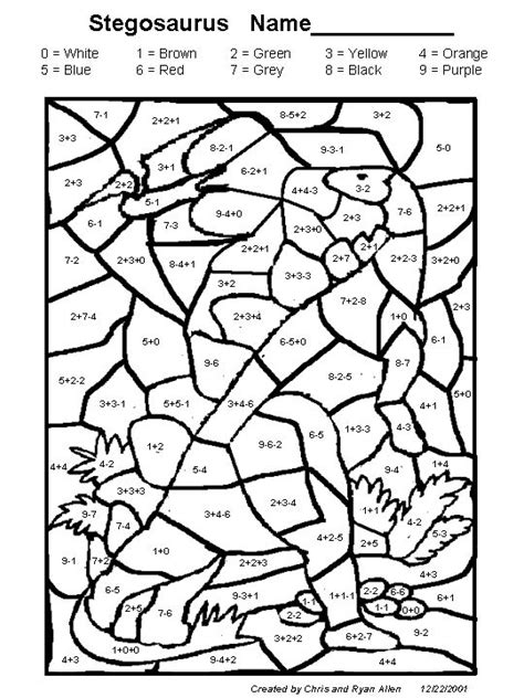 dinosaur coloring pages color by number dinosaur color by number az coloring pages