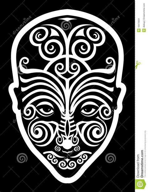maori face tattoo stock image image 18479001